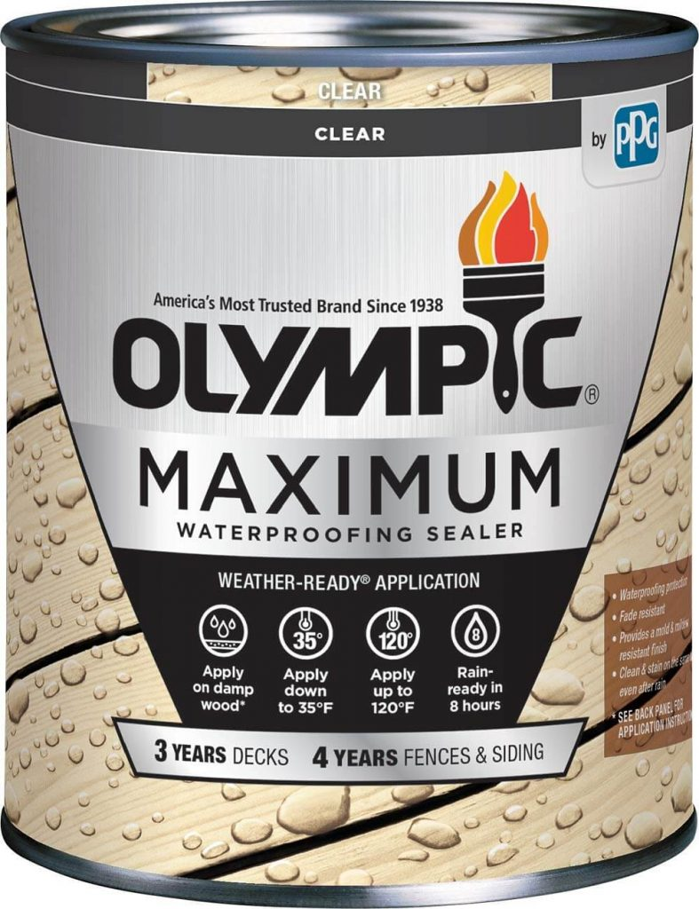 Olympic Stain 56500-04 Maximum Waterproofing Sealant