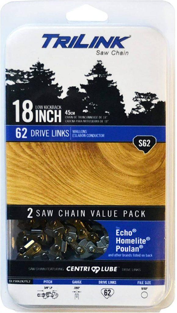 Trilink 3/8 LP .050 Gauge 62 Drive Links Chainsaw Chain