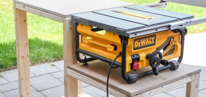 small workshop table saw