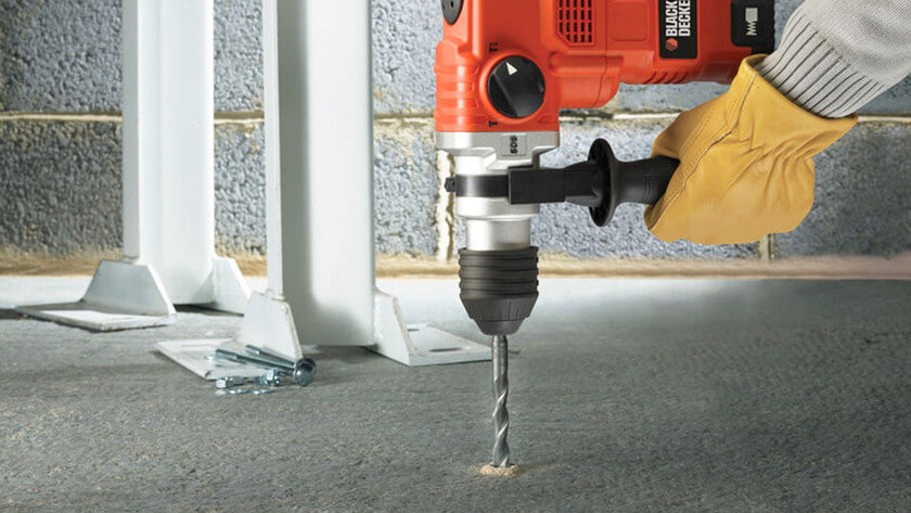 how to screw into concrete