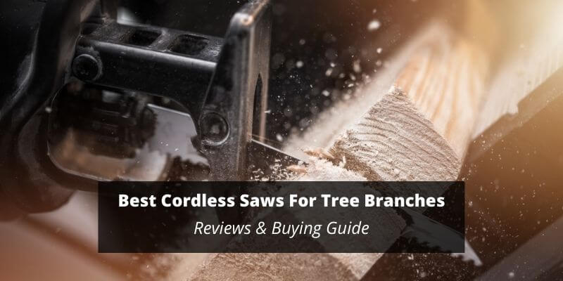 battery operated saw for trees